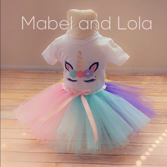 c4f287ccc566 Mabel and Lola Matching Sets | Unicorn Themed Birthday Outfit Tutu ...